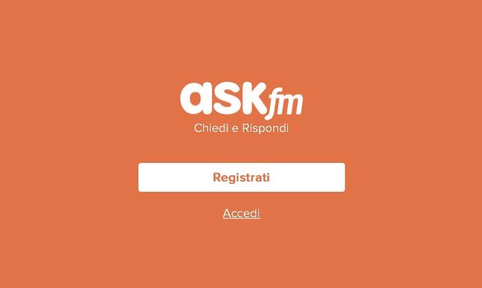 Ask fm registrazione