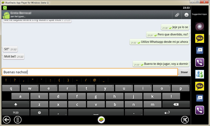 BlueStacks Player per WhatsApp su PC
