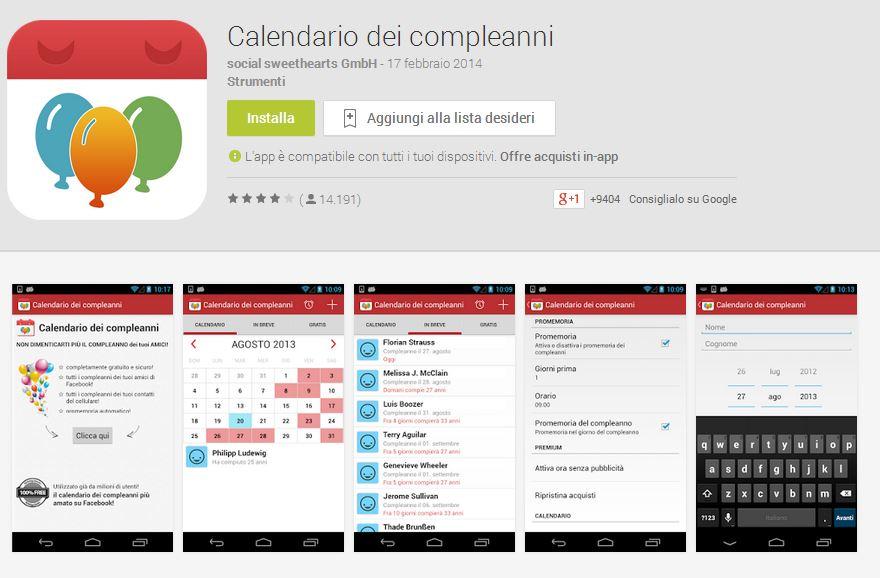 Con il calendario dei programmi Android non dimenticherete mai date importante