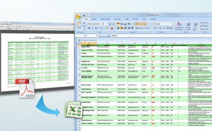Come convertire PDF in Excel