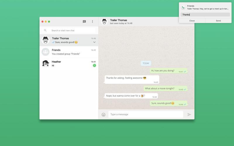 FreeChat porta WhatsApp su Mac