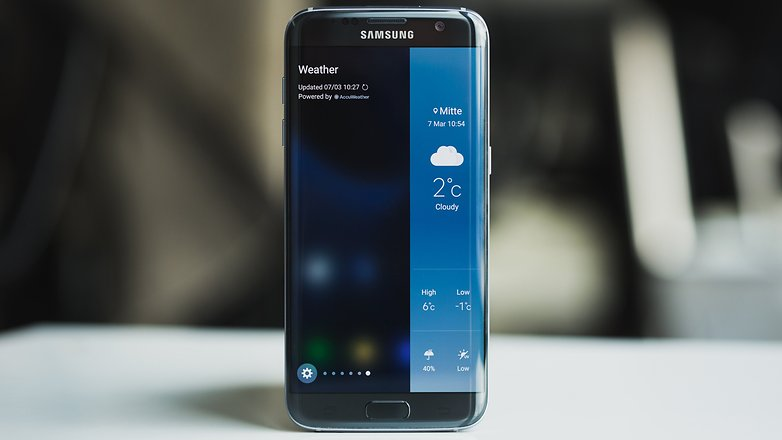 Galaxy S7 Edge display