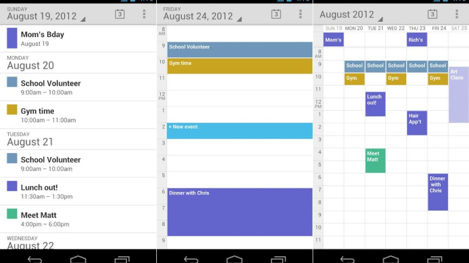 Google Calendar il calendario Android di default