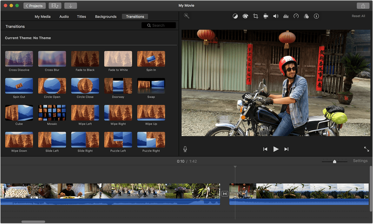 Imovie programma per montaggio video