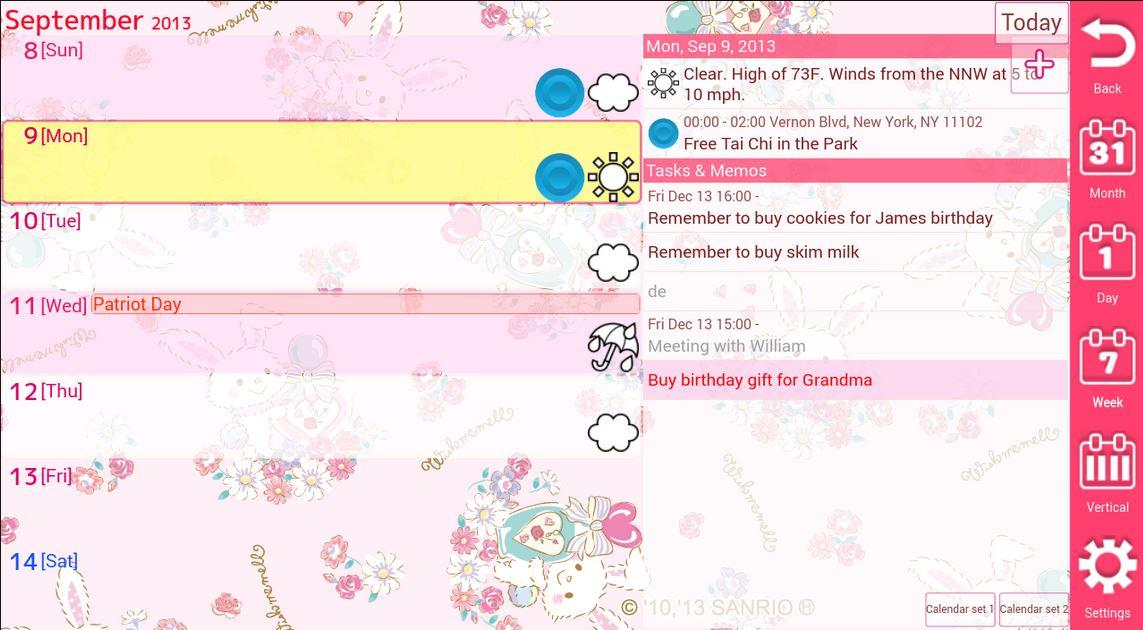 Jorte il calendario Android con tanti temi per le ragazze
