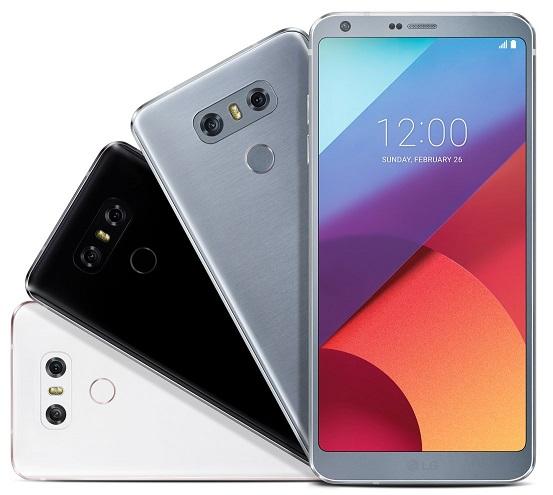 LG G6 colorazioni