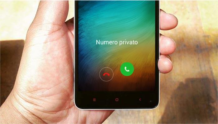 Numero sconosciuto Android