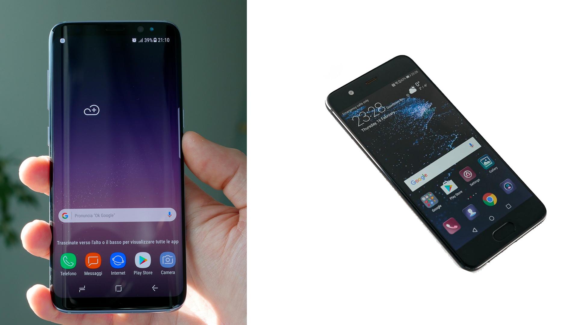 Samsung Galaxy S8 vs Huawei P10: il confronto