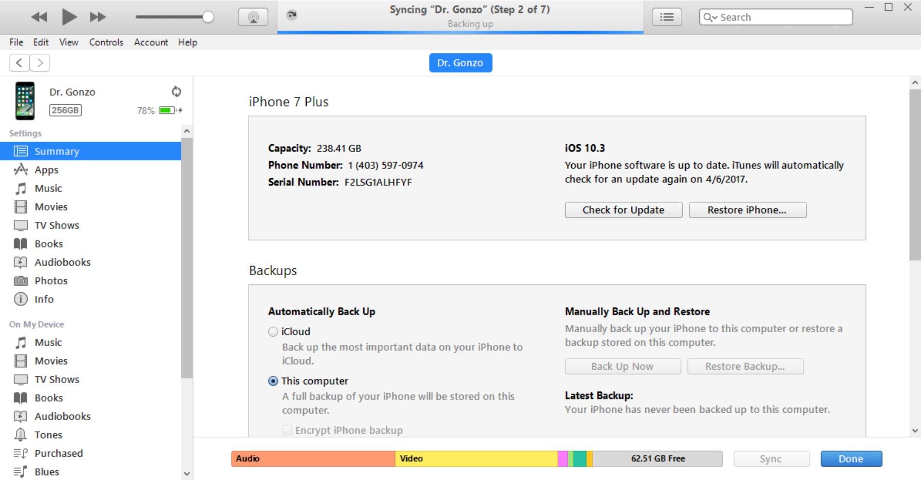 Sincronizzazione foto su iTunes