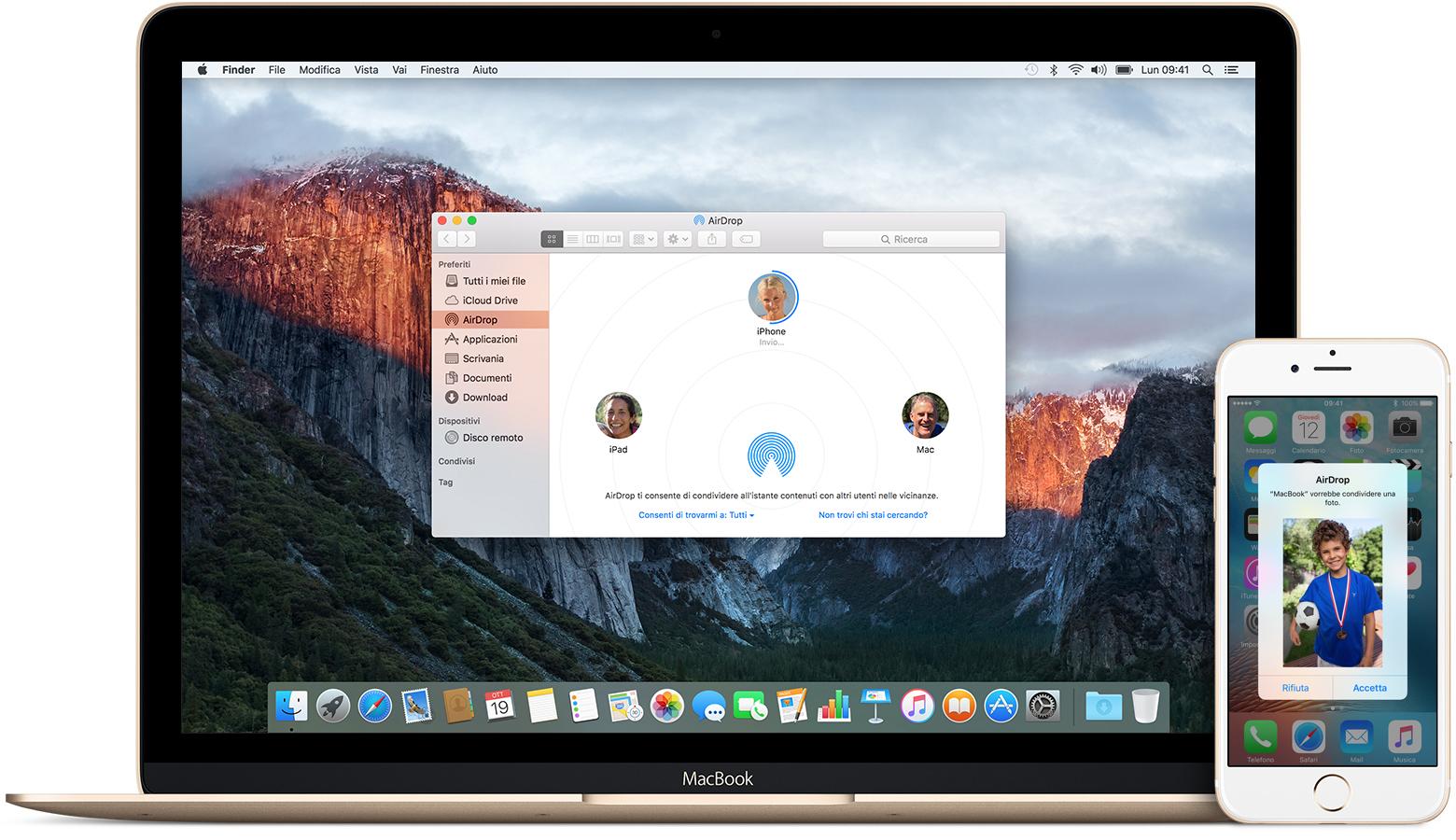 Trasferire foto da IPhone a Mac con AirDrop