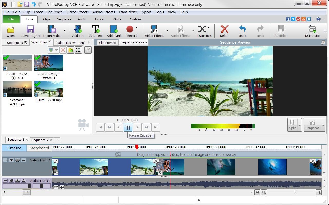 Videopad programmi per montaggio video