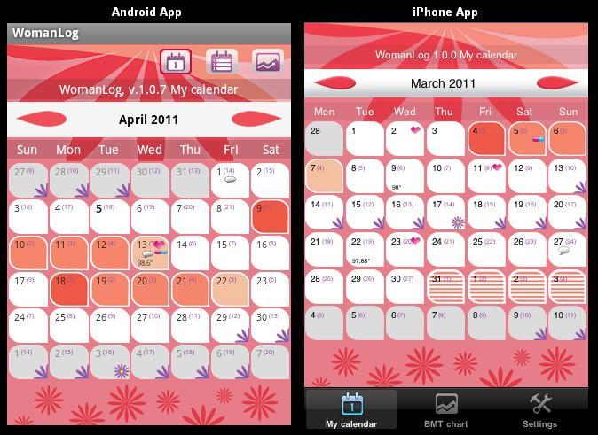 WomanLog il calendario Android che porta il conto del ciclo mestruale