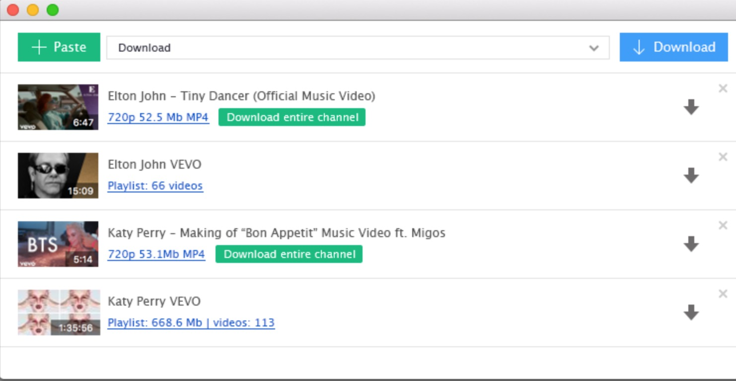 YouTube Download per Mac