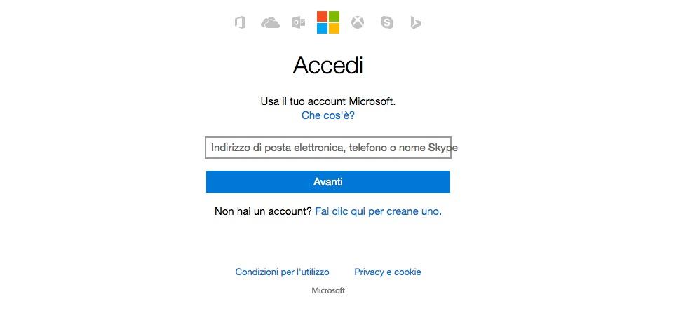 chiudere account skype