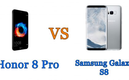 Honor 8 Pro vs Samsung Galaxy S8: il confronto