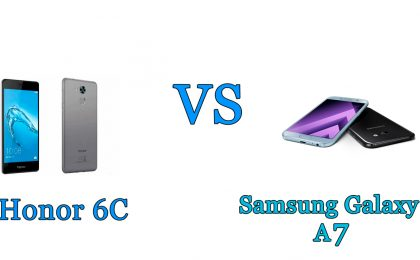 Honor 6C vs Samsung Galaxy A7: il confronto