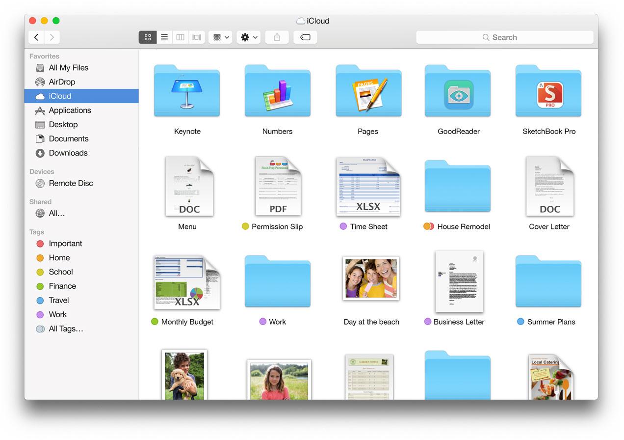 iCloud Drive Finder Mac