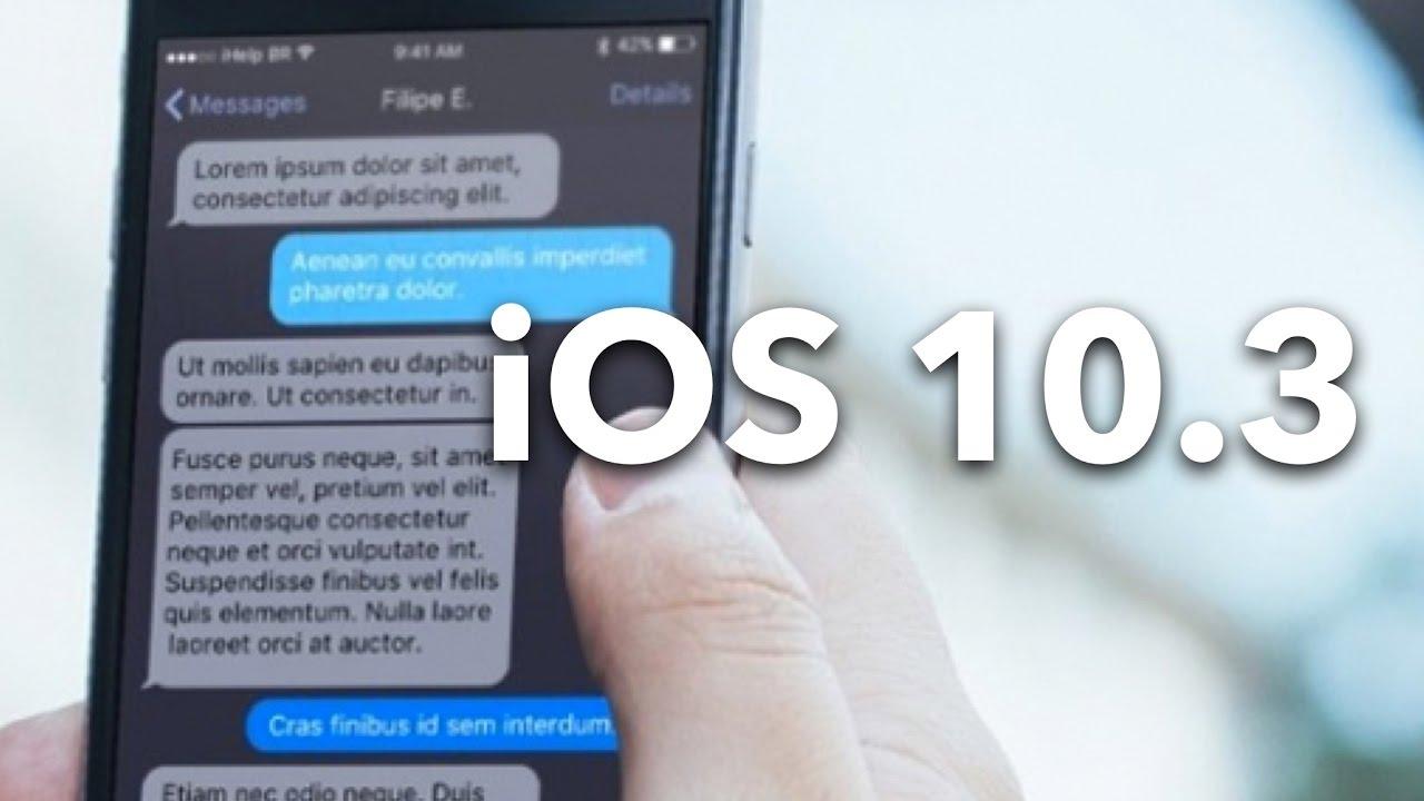 Aggiornamento iOS 10.3