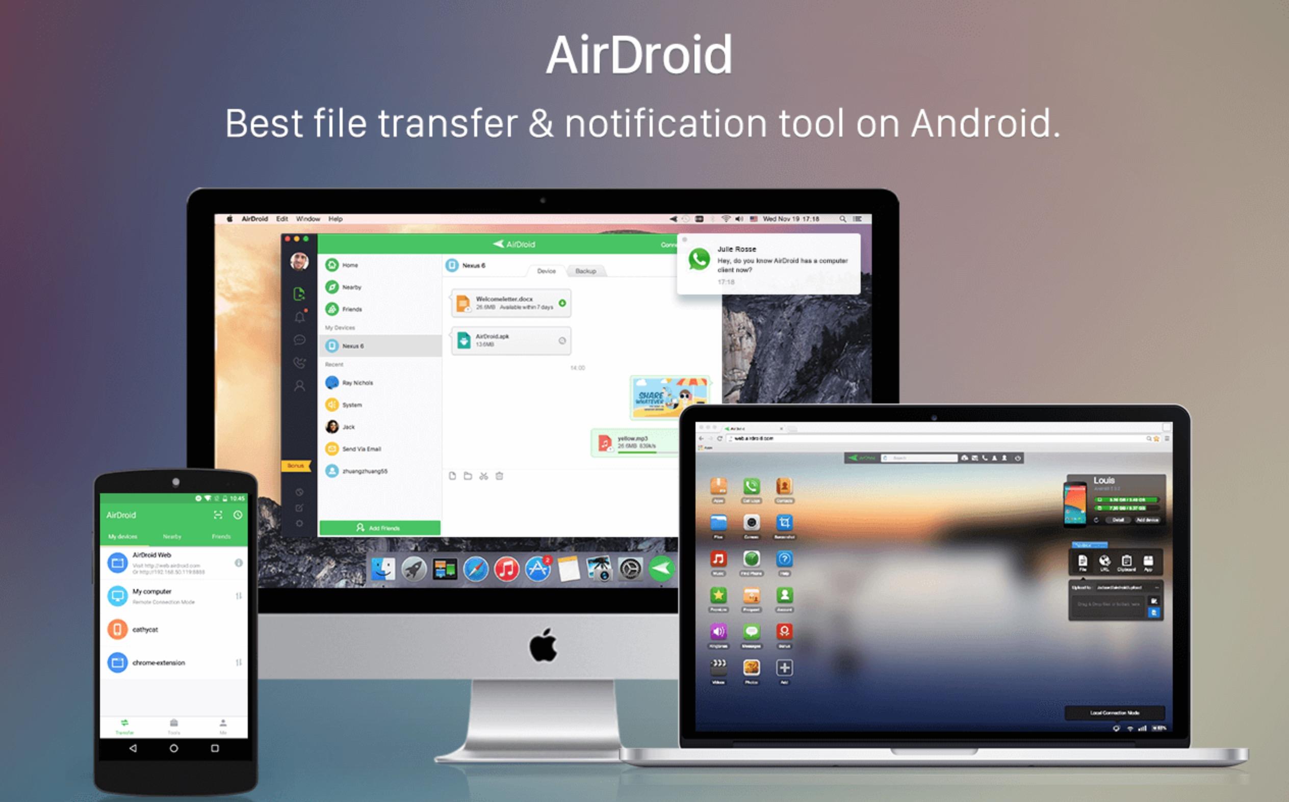 AirDroid trasferimento file da Android a Mac