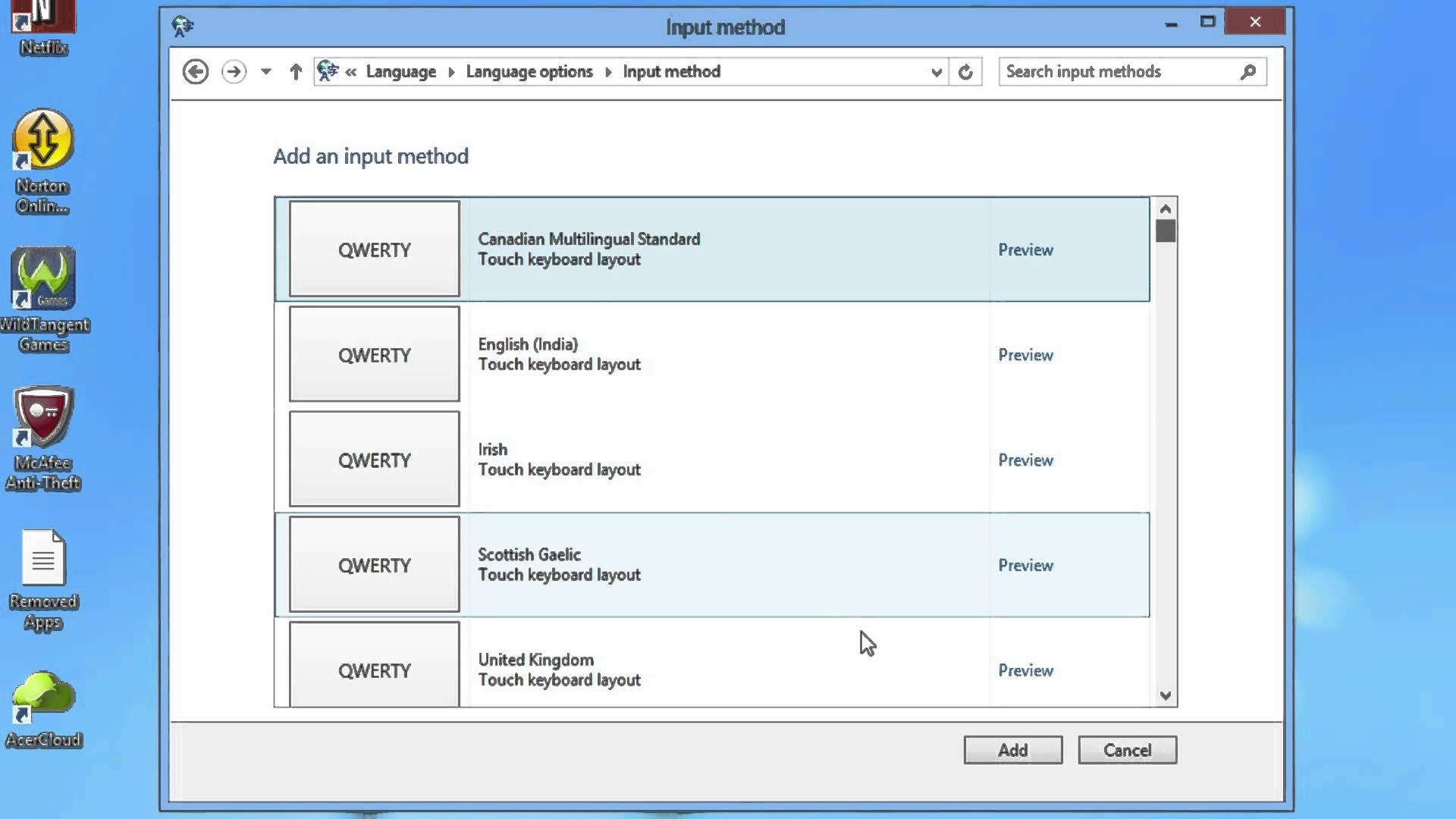 Cambiare tastiera Windows 10 e Windows 8