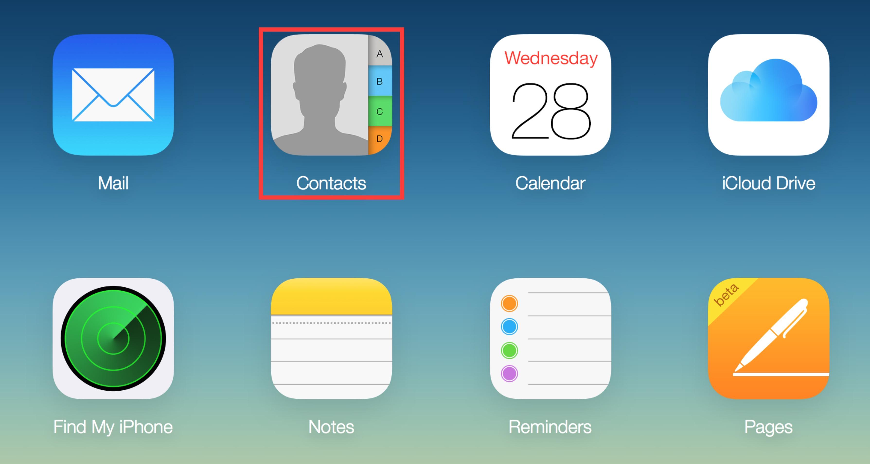 Contatti iPhone su iCloud