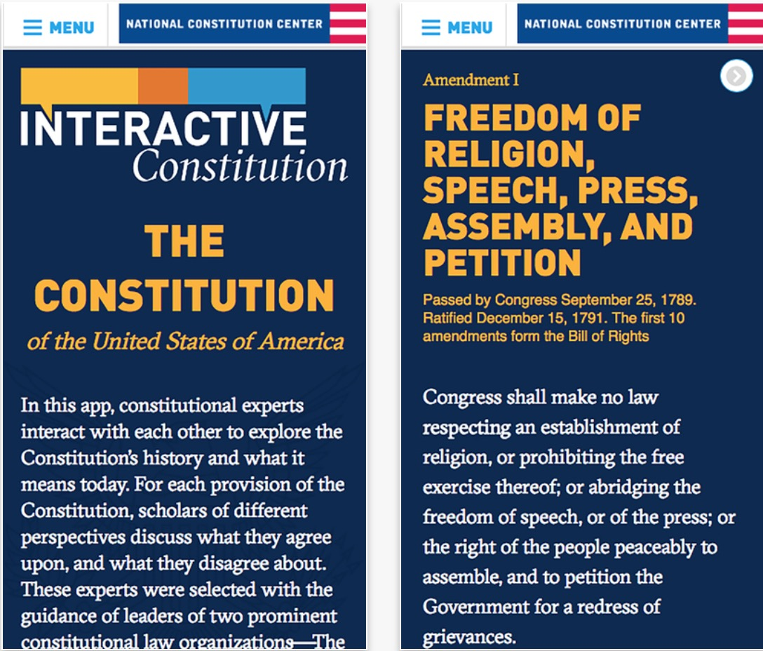 Costituzione Americana Interattiva