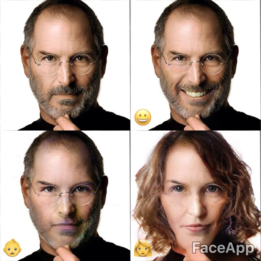 FaceApp Steve Jobs