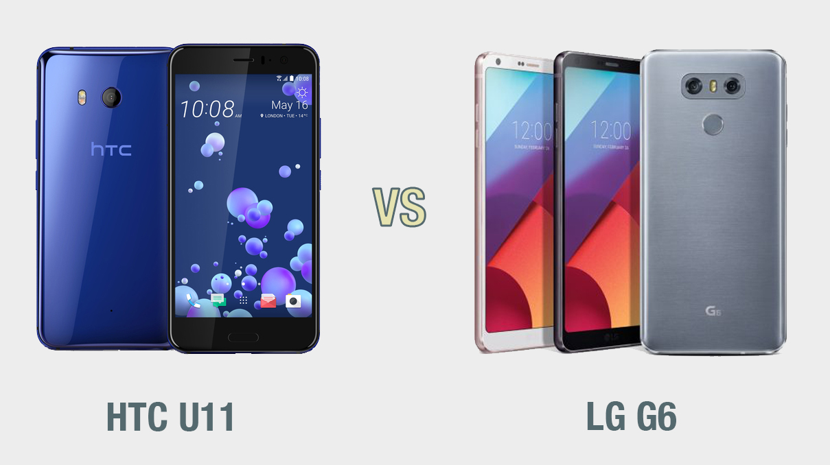 HTC U11 vs LG G6: il confronto