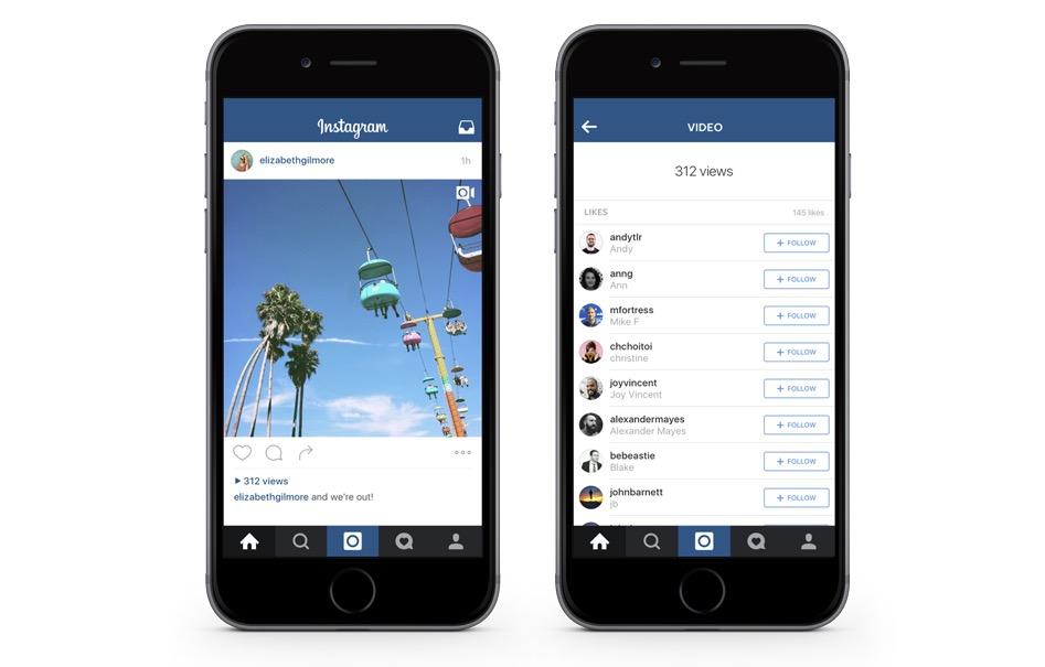 Instagram video visualizzazioni