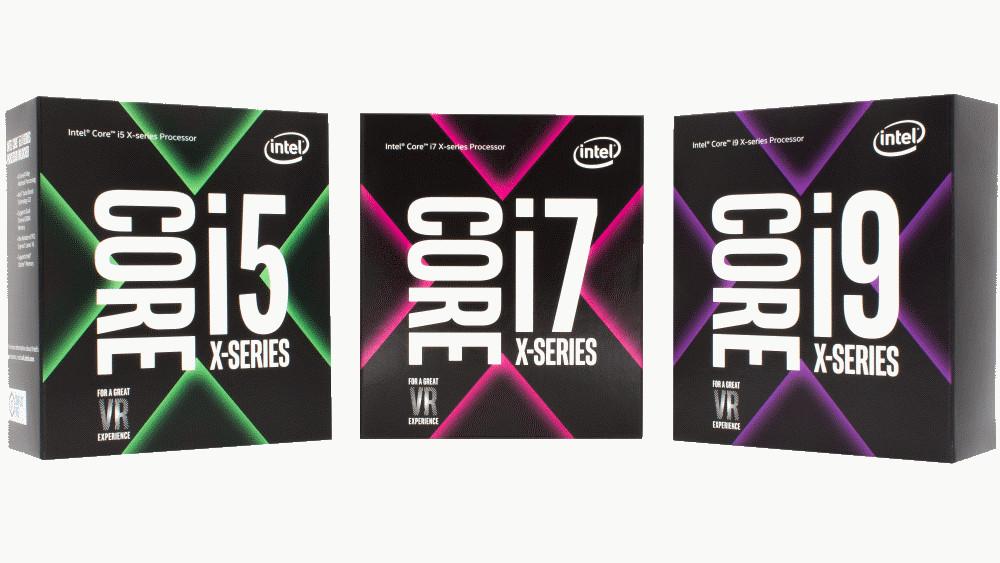 Intel Core i5 i7 i9 serie X