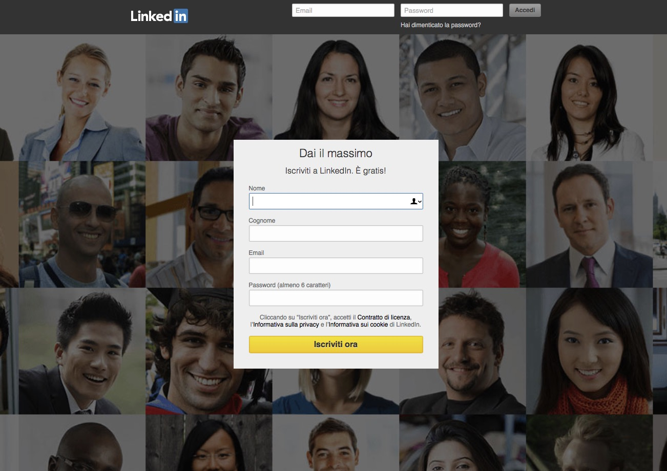 Linkedin come iscriversi