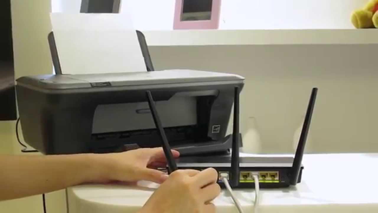 Stampante USB di rete con router wireless