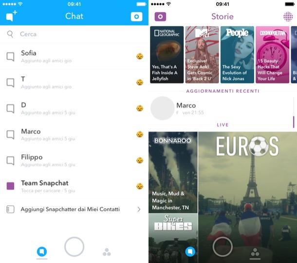 Storie Snapchat