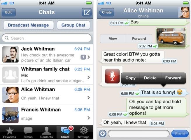 Whatsapp chat contatto