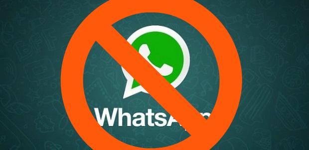 Whatsapp con divieto
