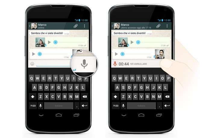 Whatsapp icona microfono