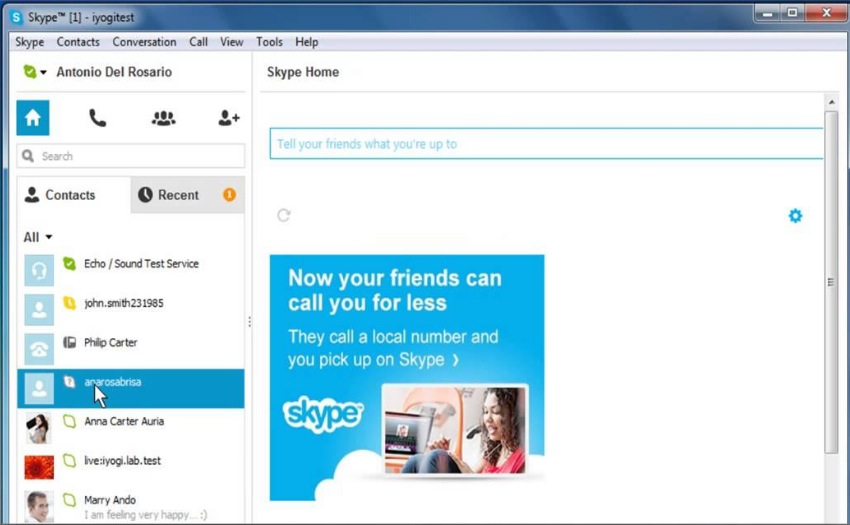 come sapere se sei stato bloccato su skype