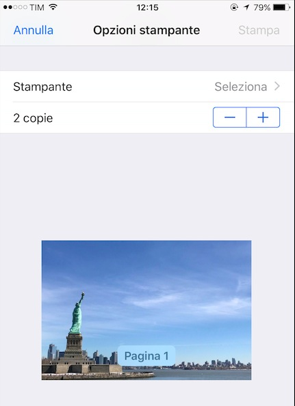 come stampare da iphone