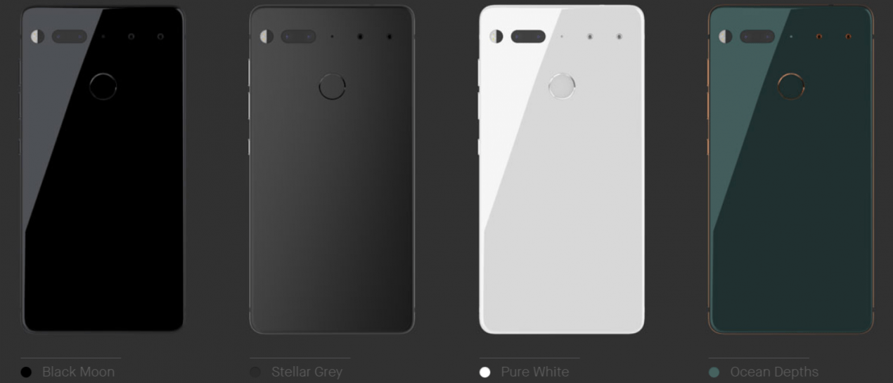 Essential phone colorazioni