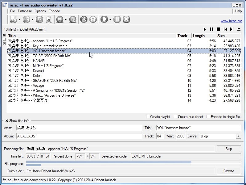 Freac programma convertire file audio in MP3