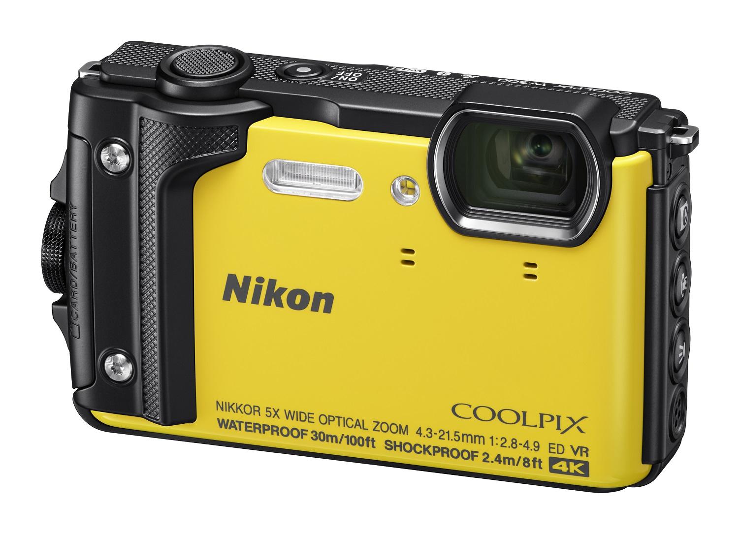 Nikon Coolpix W300_YW_front34l_lo_w