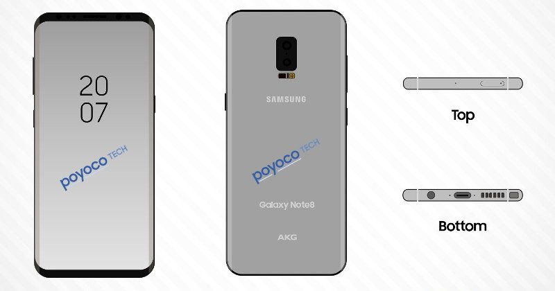 Samsung Galaxy Note 8: scanner impronte digitali integrato