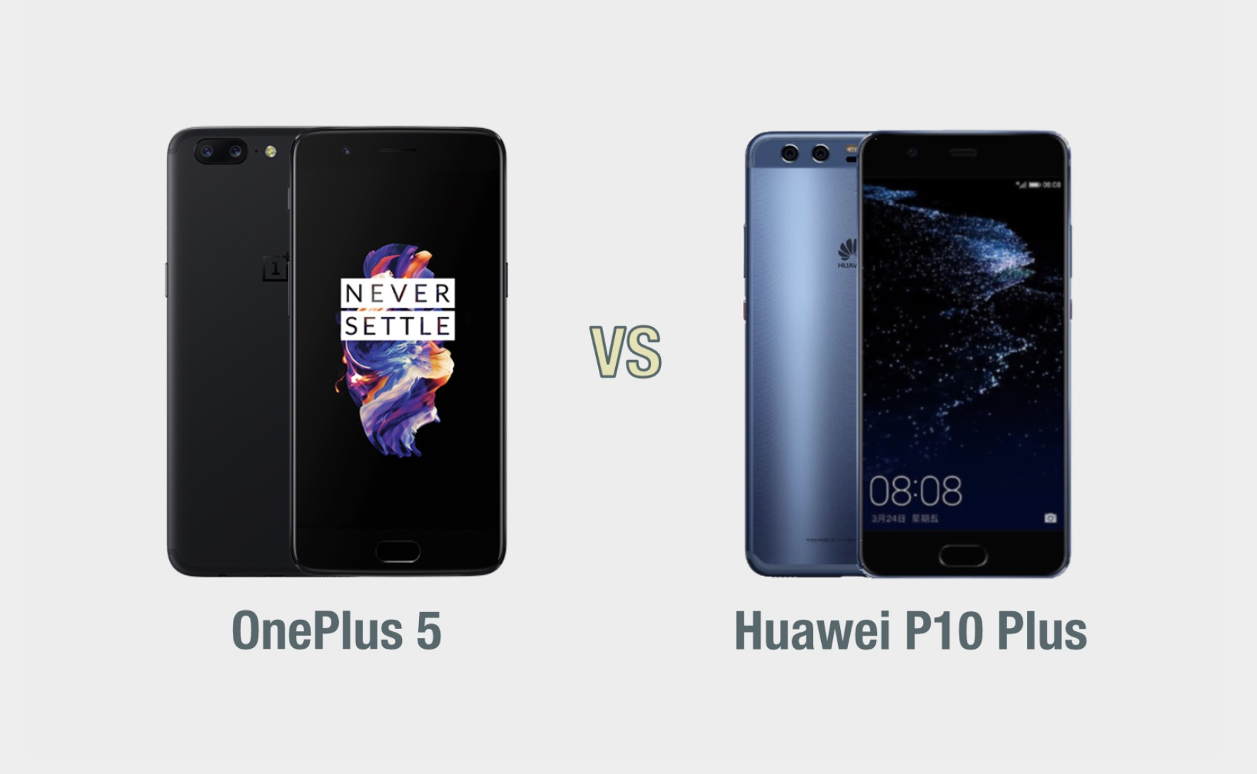OnePlus 5 vs Huawei P10 Plus: il confronto