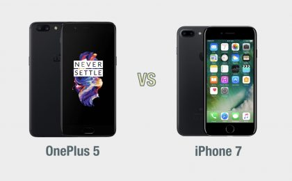 OnePlus 5 vs iPhone 7: il confronto