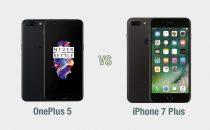 OnePlus 5 vs iPhone 7 Plus: il confronto