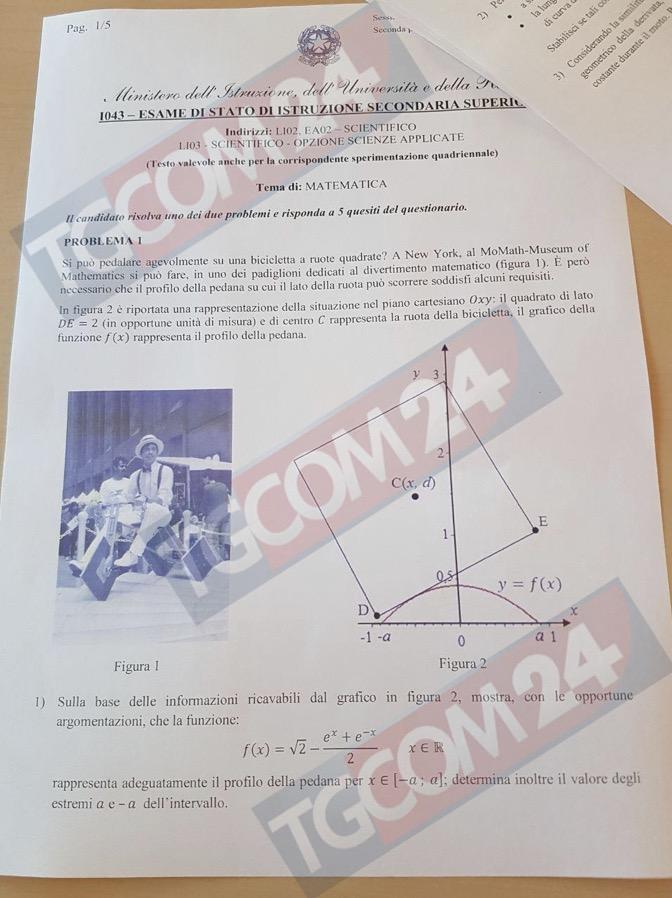 Problemi seconda prova di matematica prima pagina