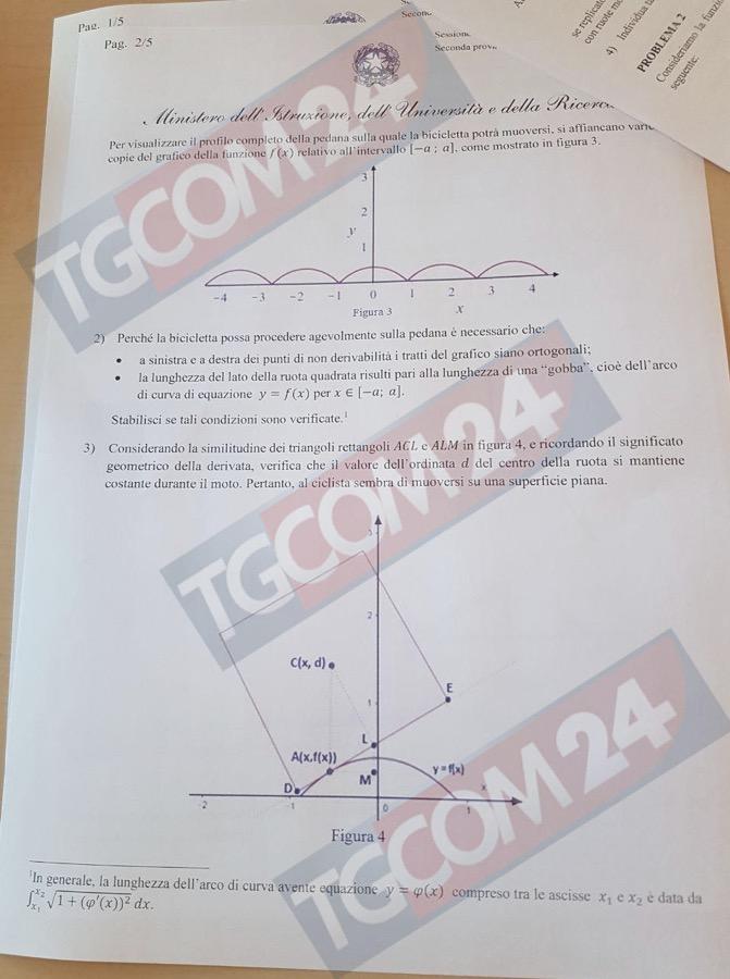 Problemi seconda prova di matematica seconda pagina