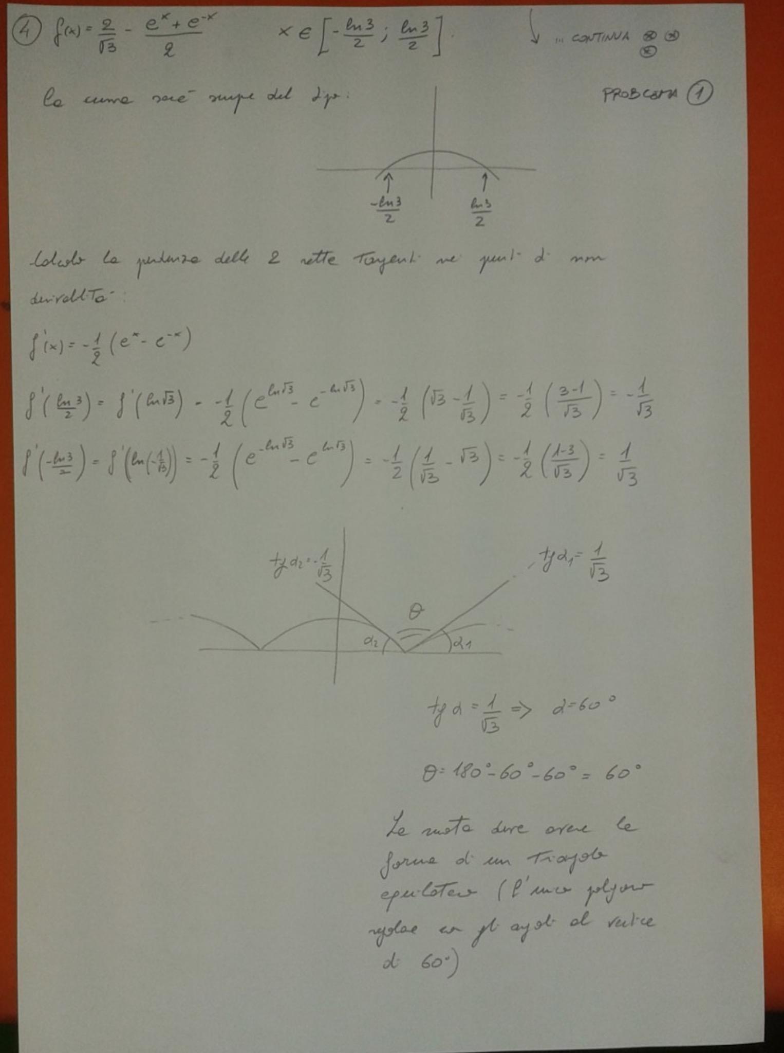 Soluzione primo esercizio matematica Maturità 2017 pagina 4