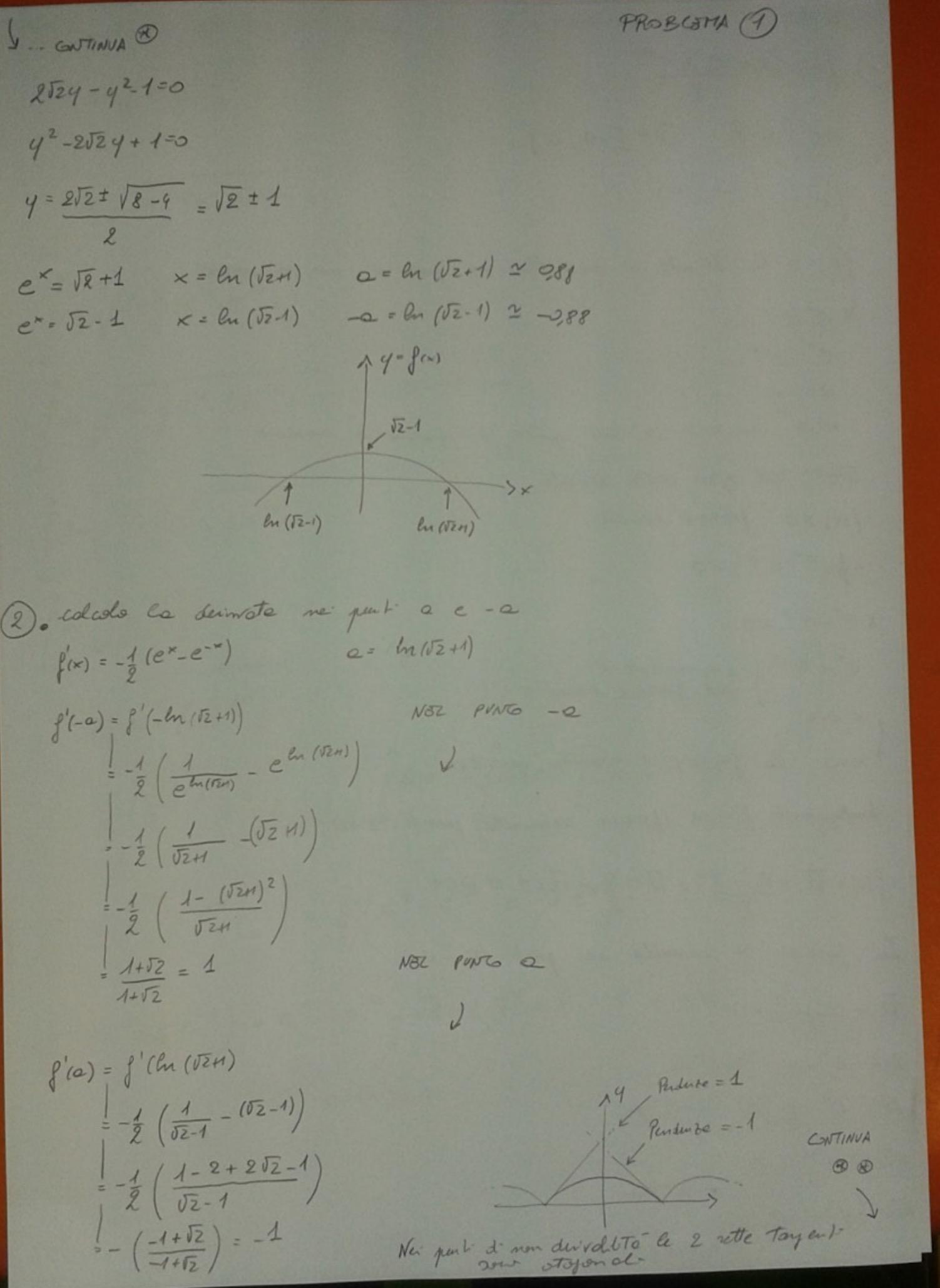 Soluzione primo esercizio matematica Maturità 2017 pagina 5