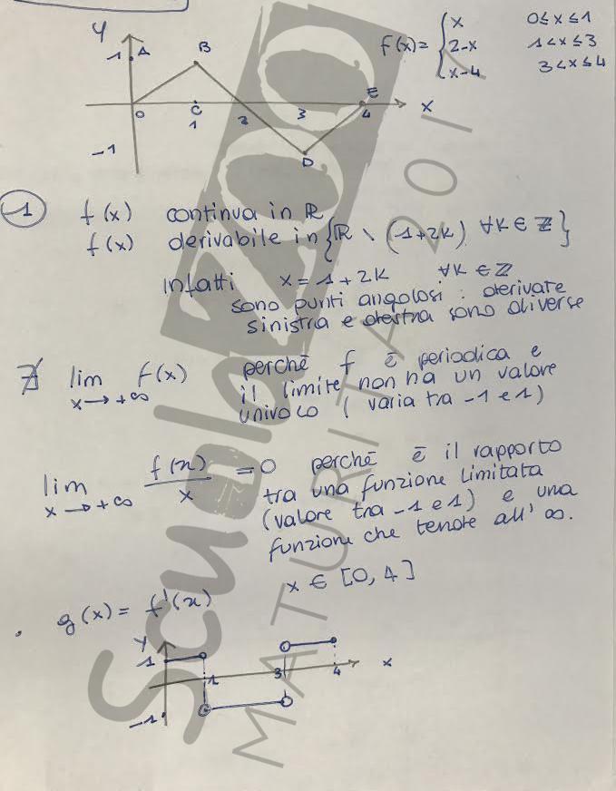 Soluzione problema 2 matematica Maturità 2017 pagina 1